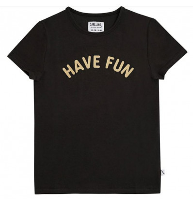 HAVE FUN T-SHIRT PRINT BLACK 110/116 21