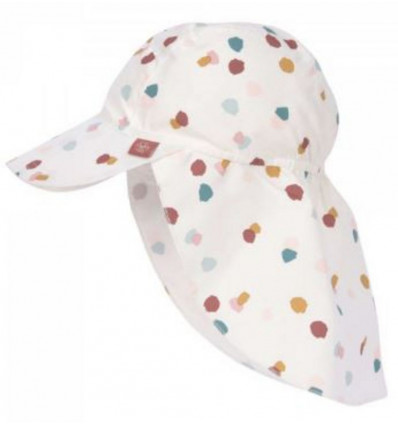 SUN FLAP HAT SPOTTED WHITE 3-6M 21